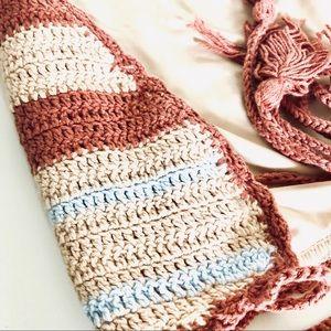 Forever 21 Swim - NEW F21 FOREVER 21 Striped Crochet Tassel Bikini